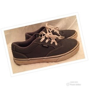 VANS SHOES GRAY YOUTH SZ 5 CANVAS CASUAL SNEAKERS